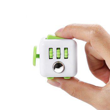 PIECE FUN Fidget Magic Cube Style Stress Reliever Pressure Reducing Toy for Office Worker