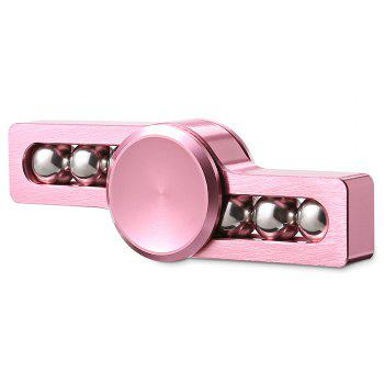 Gyro Stress Reliever Pressure Reducing Toy with Six Rotating Bead for Office Worker - PINK