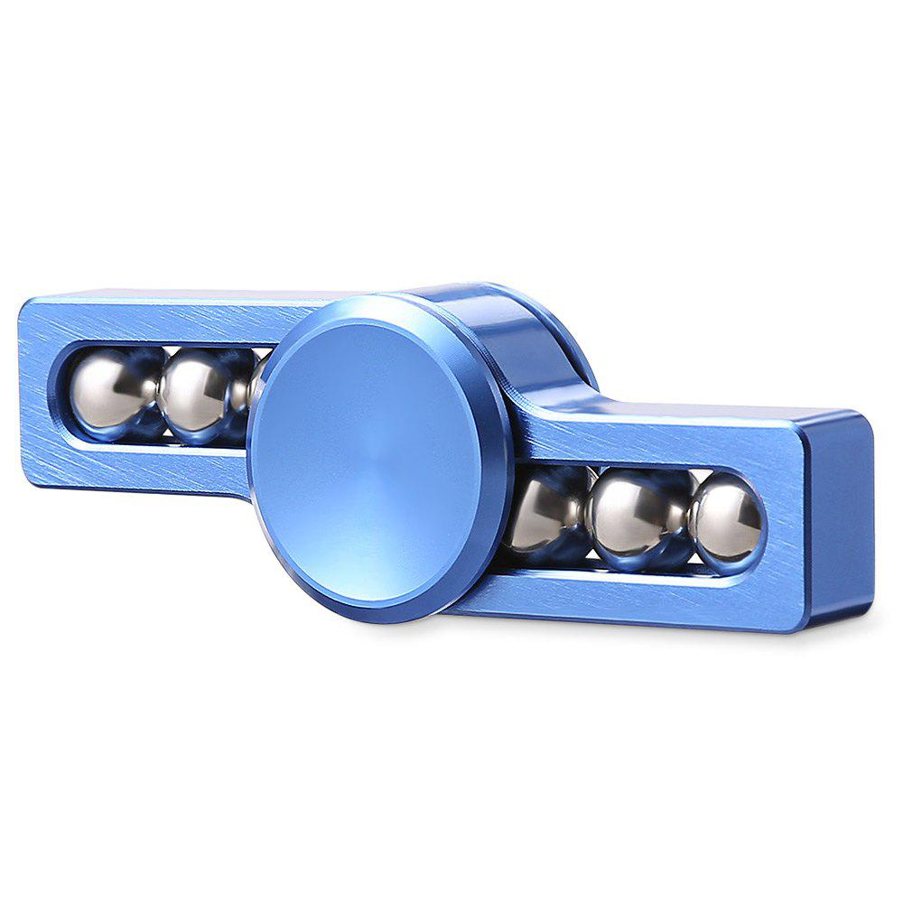 Gyro Stress Reliever Pressure Reducing Toy with Six Rotating Bead for Office Worker - BLUE