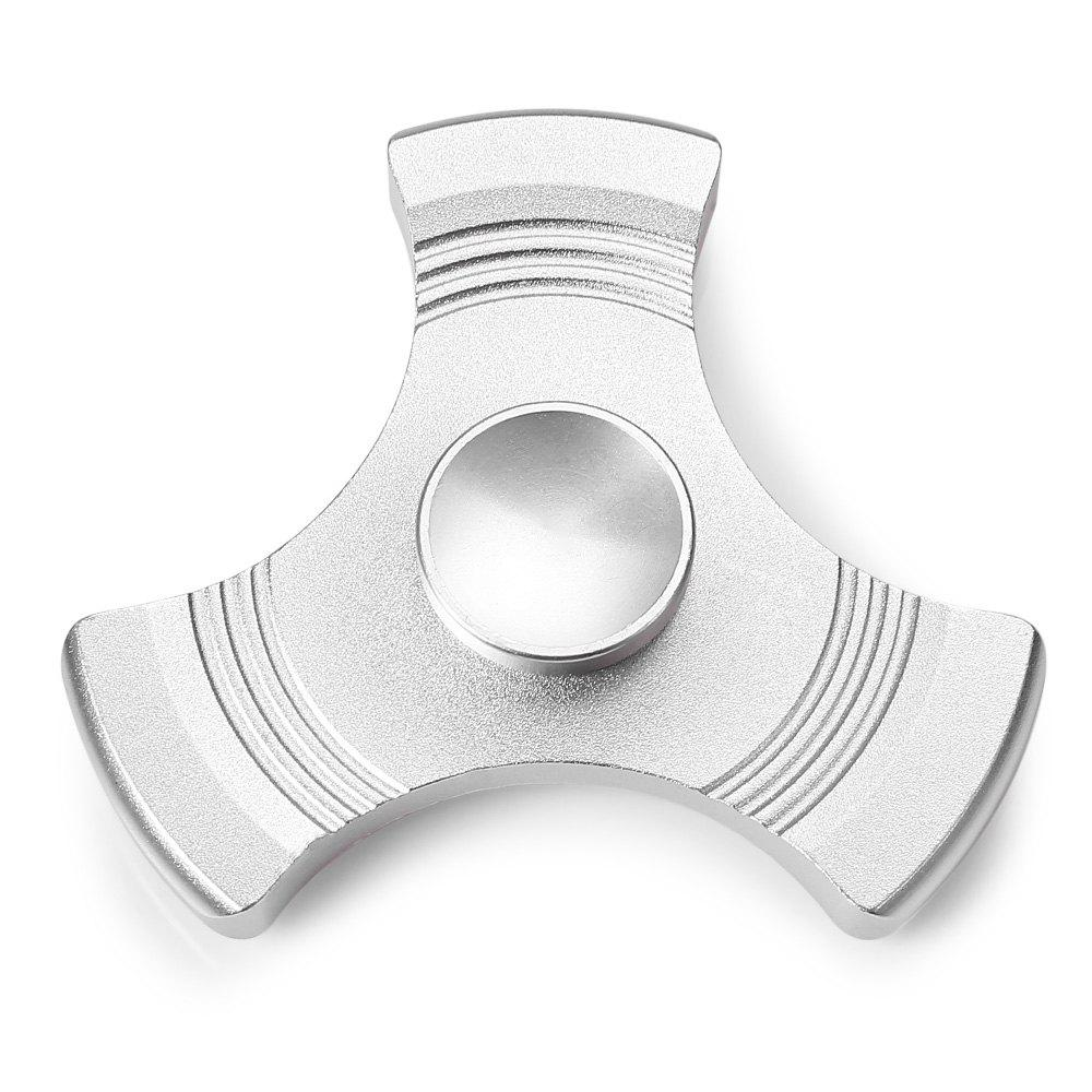 Three-blade Gyro Stress Reliever Pressure Reducing Toy for Office Worker - SILVER