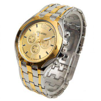 Orlando 425 Decorative Sub-dials Male Analog Quartz Watch Alloy Band Round Dial - CHAMPAGNE CHAMPAGNE