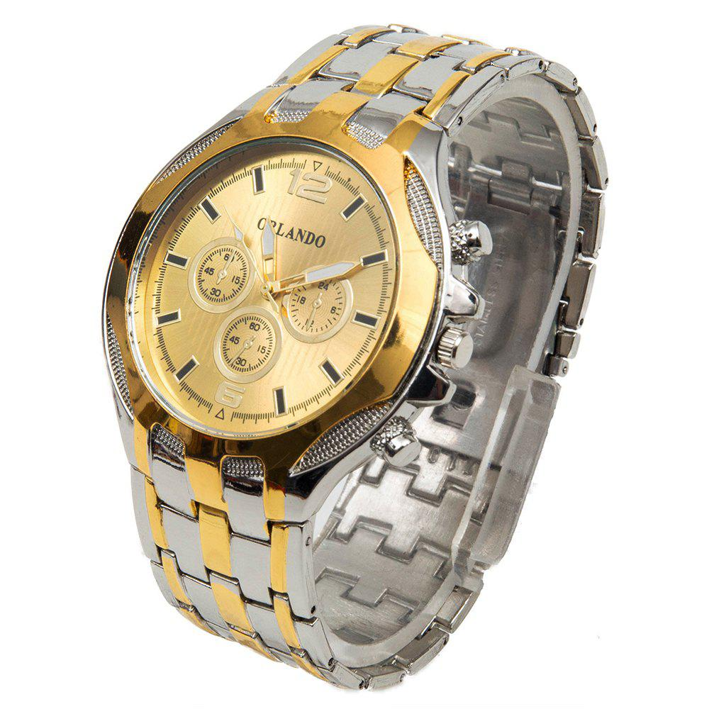 Orlando 425 Decorative Sub-dials Male Analog Quartz Watch Alloy Band Round Dial - CHAMPAGNE