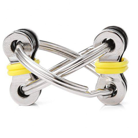 Chain Puzzle Style Stress Reliever Pressure Reducing Toy for Office Worker - YELLOW