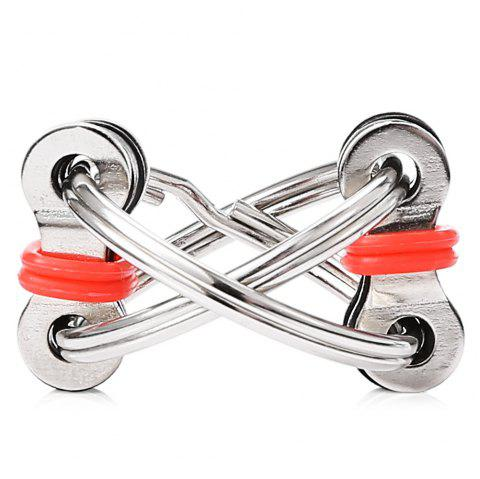 Chain Puzzle Style Stress Reliever Pressure Reducing Toy for Office Worker - RED