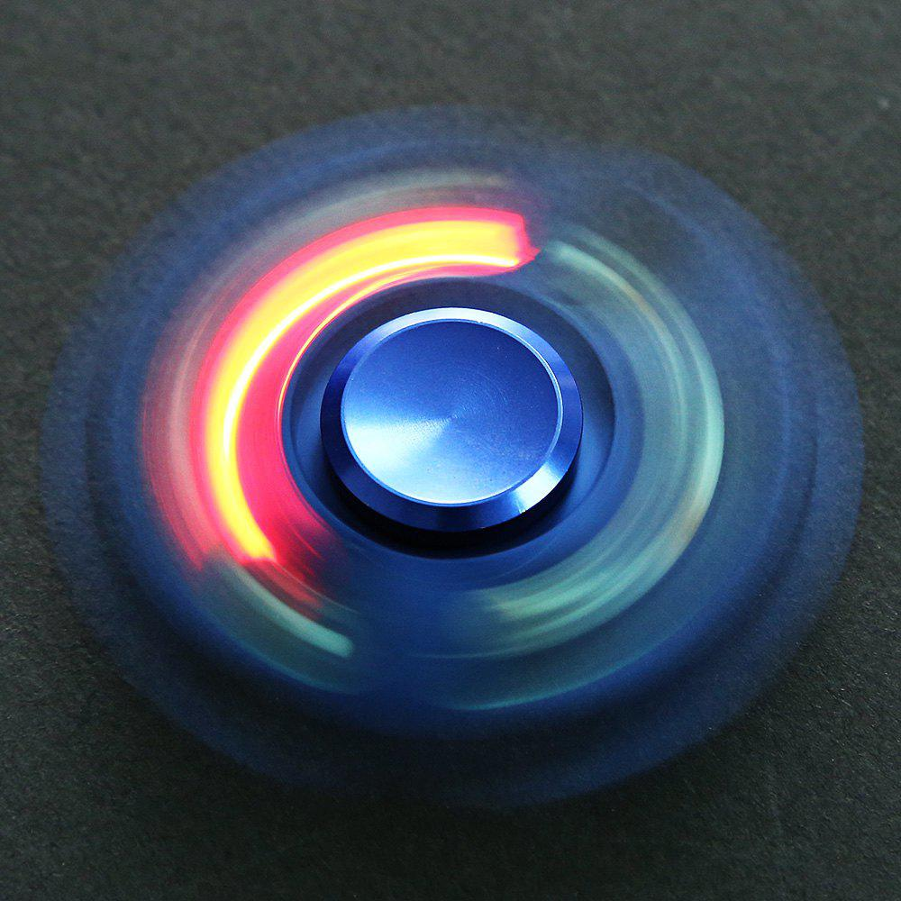 Two-blade Lighting Anti-stress Toy Color Changing LED Finger Spinner - BLUE