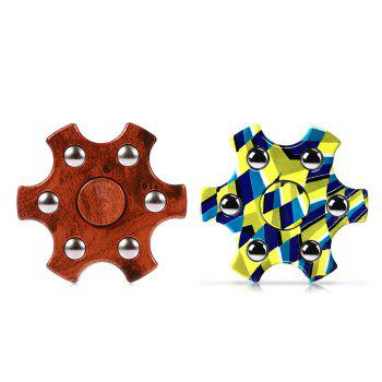 Colorful Hexagon Fidget Spinner ADHD Stress Relief Toy Relaxation Gift for Adults - COLORFUL GEOMETRIC