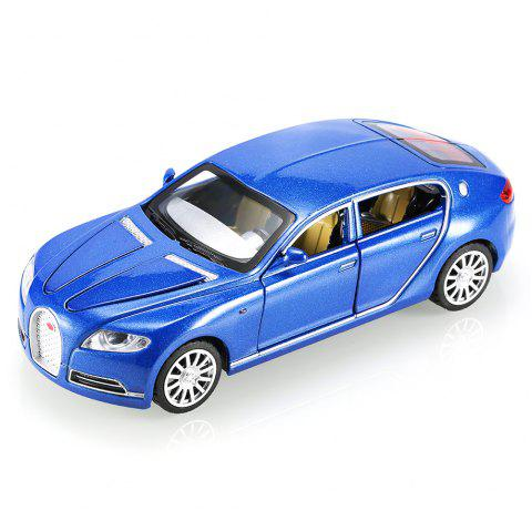 1:32 Aluminum Alloy Car Model Pullback Vehicle Collection Toy with Music Light - BLUE