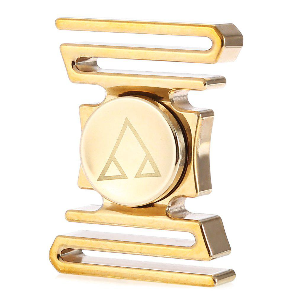 Customized Curved ADHD Brass Fidget Spinner with R188 Bearing Stress Relief Product Adult Fidgeting Toy - MARIGOLD