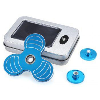 KELIMA Three-blade Zinc Alloy Fidget Spinner ADHD Stress Relief Product Adult Fidgeting Toy - BLUE