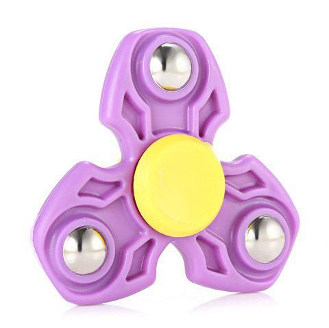 ABS Durable Gyro Stress Reliever Pressure Reducing Toy for Office Worker - PURPLE