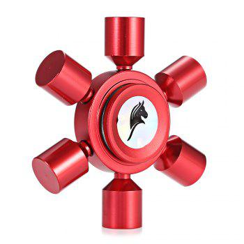 KELIMA Aluminum Alloy ADHD Fidget Spinner Rudder Shape Stress Reliever Toy Relaxation Gift