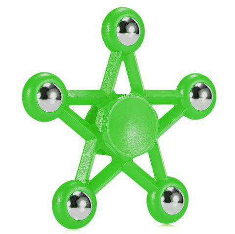 Five-pointed Star Plastic Hand Spinner Funny Stress Reliever Relaxation Gift - GREEN