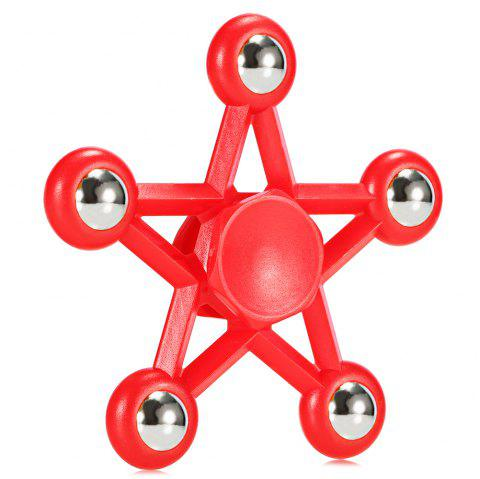 Five-pointed Star Plastic Hand Spinner Funny Stress Reliever Relaxation Gift - RED
