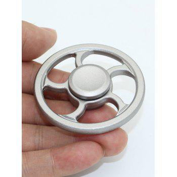 Wheel Fingertip Spinning Top Finger Gyroscope Focus Toy Stress Reliever -  SILVER