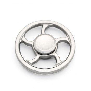 Wheel Fingertip Spinning Top Finger Gyroscope Focus Toy Stress Reliever - SILVER SILVER