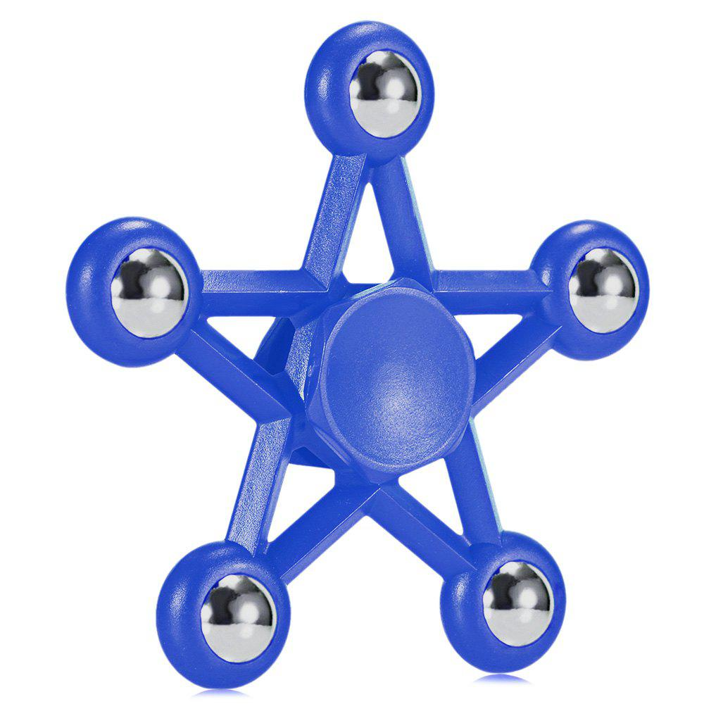 Five-pointed Star Plastic Hand Spinner Funny Stress Reliever Relaxation Gift - BLUE
