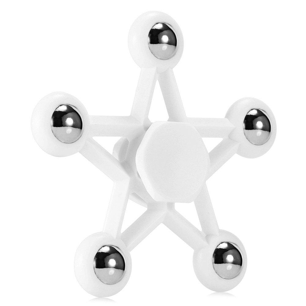 Five-pointed Star Plastic Hand Spinner Funny Stress Reliever Relaxation Gift - WHITE