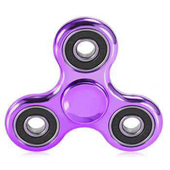 Electroplated Tri-wing Fidget Spinner Stress Relief Product Adult Fidgeting Toy - PURPLE