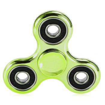 Electroplated Tri-wing Fidget Spinner Stress Relief Product Adult Fidgeting Toy - GREEN