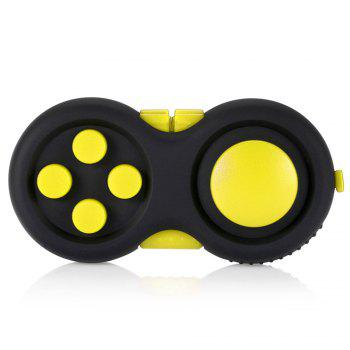 Magic Cube Style Fidget Spinner Funny Stress Reliever Relaxation Gift - YELLOW YELLOW