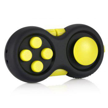Magic Cube Style Fidget Spinner Funny Stress Reliever Relaxation Gift - YELLOW