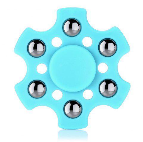 Hexagon ABS Fidget Spinner with r188 Bearing Stress Relief Product Adult Fidgeting Toy - LIGHT BLUE