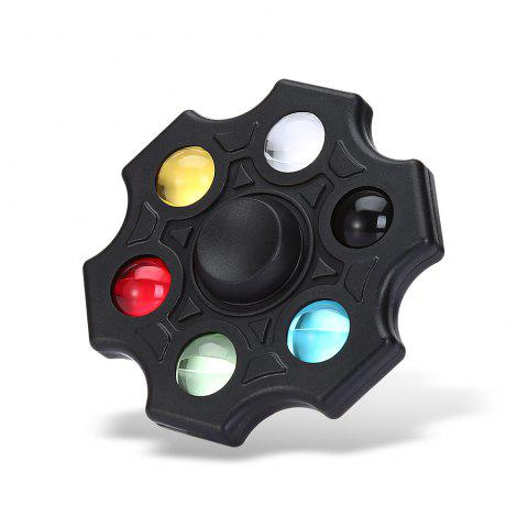 Six-blade Fidget Spinner Stress Reliever Toy Relaxation Gift - BLACK