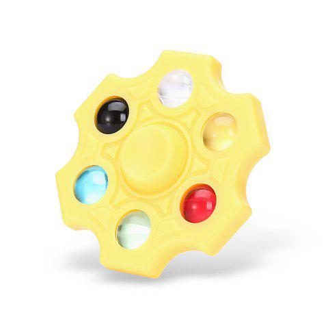 Six-blade Fidget Spinner Stress Reliever Toy Relaxation Gift - YELLOW