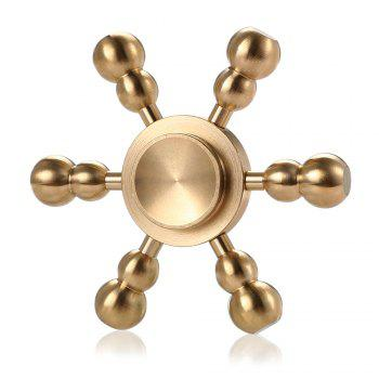 Hexagon Detachable Cucurbit Pure Brass Fidget Spinner Funny Stress Reliever Relaxation Gift - COPPER COLOR COPPER COLOR