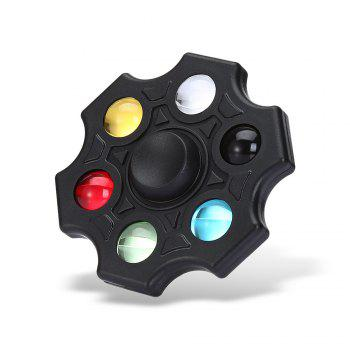 Six-blade Fidget Spinner Stress Reliever Toy Relaxation Gift - BLACK BLACK
