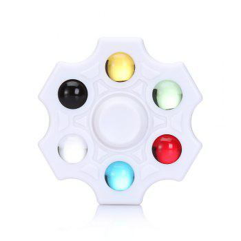 Six-blade Fidget Spinner Stress Reliever Toy Relaxation Gift - WHITE