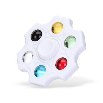 Six-blade Fidget Spinner Stress Reliever Toy Relaxation Gift - WHITE WHITE