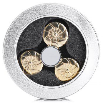 Round Wheel Fidget Tri-spinner Pure Brass Material Stress Relief Product Adult Fidgeting Toy -  GOLDEN