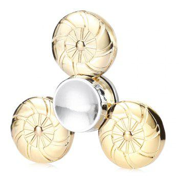 Round Wheel Fidget Tri-spinner Pure Brass Material Stress Relief Product Adult Fidgeting Toy - GOLDEN GOLDEN