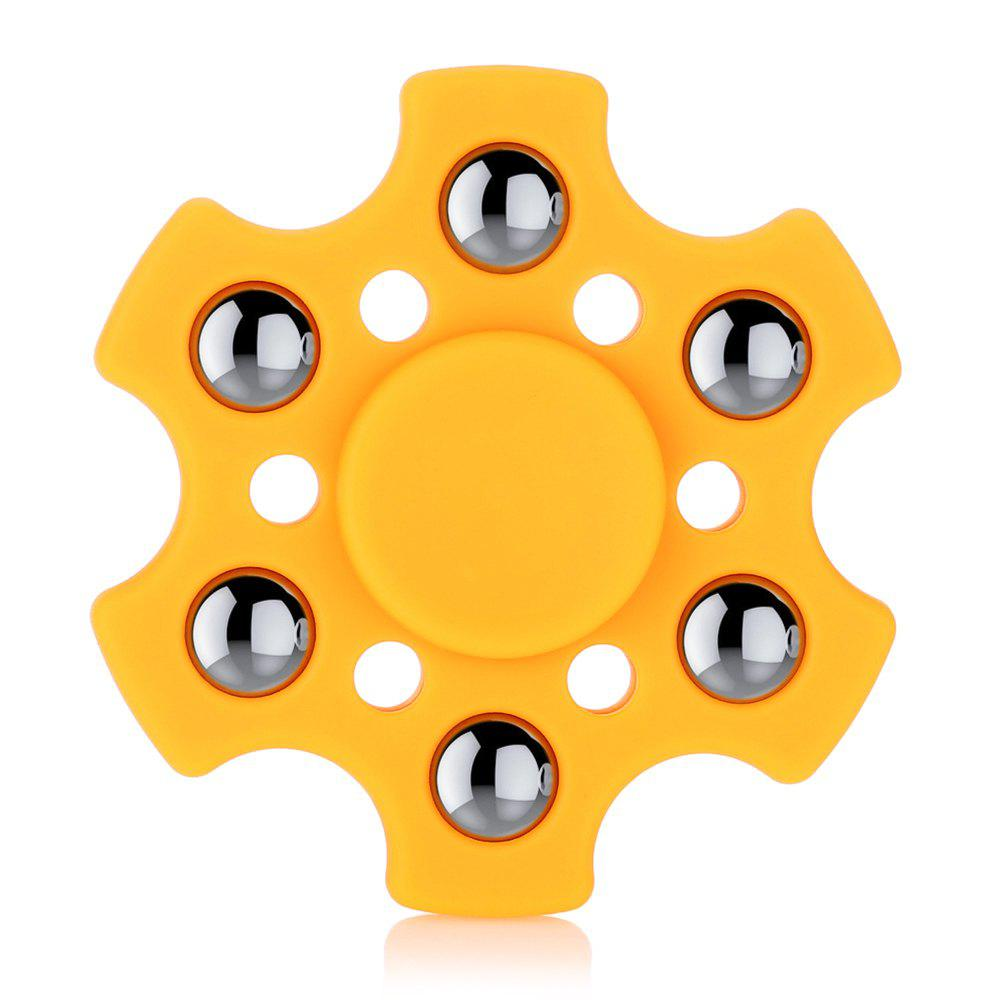 Fidget Spinner Hexagonal en ABS avec r188 Palier Produit de Soulagement du Stress Jouet Spinner Adulte - Orange