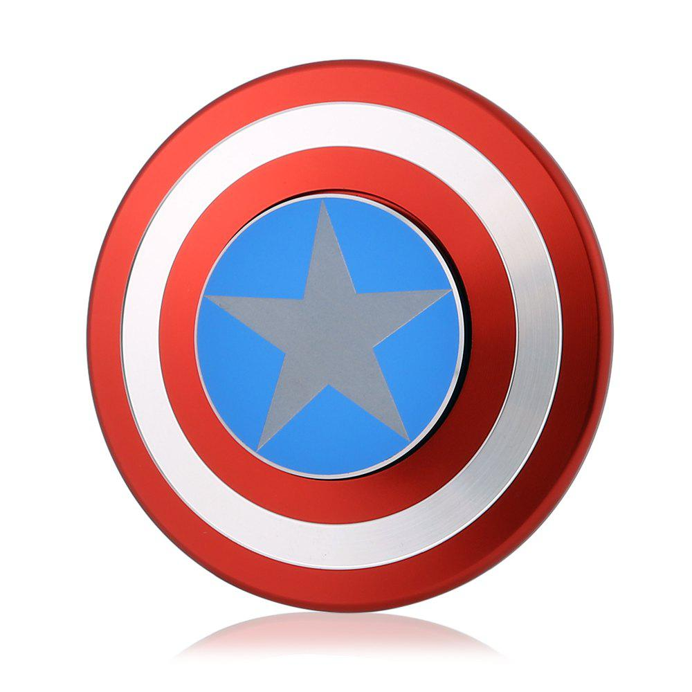 Circular Aluminum Alloy Fidget Spinner American Style Stress Relief Gift Fidgeting Toy for Anxiety