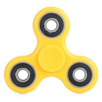 ABS Plastic ADHD Fidget Spinner Stress Reliever Toy Relaxation Gift - YELLOW YELLOW