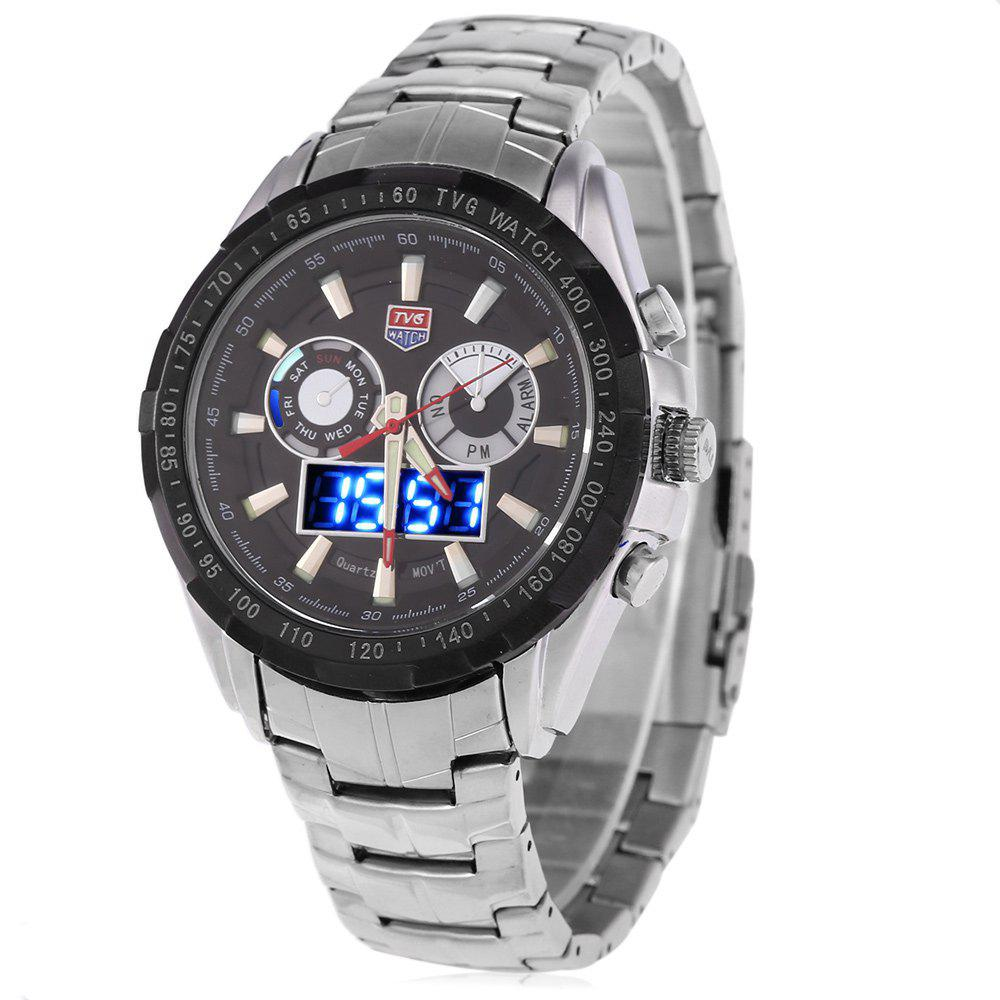 Tvg 579 Luminous LED Military Outdoor Sports Wristwatch Men Multifunction Dual Time Watches tvg 579 luminous led military outdoor sports wristwatch men multifunction dual time watches