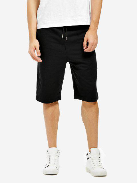 Sweatpants Shorts - BLACK S