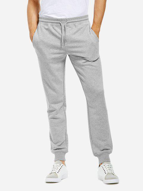 Cotton Sweatpants - HEATHER GRAY M
