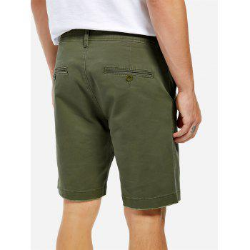Knee Length Shorts - ARMY GREEN 31