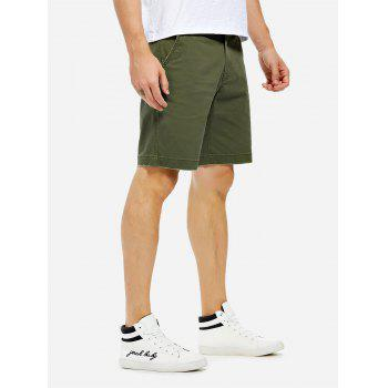 Knee Length Shorts - ARMY GREEN ARMY GREEN