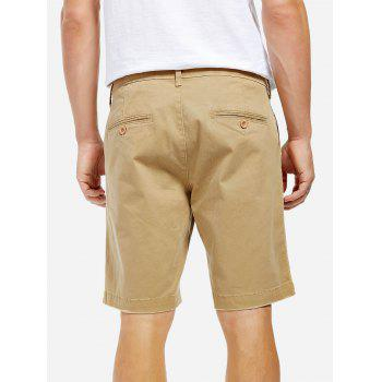 Knee Length Shorts - KHAKI 33