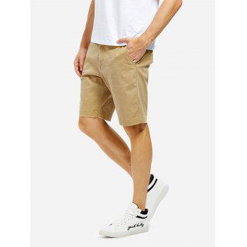 Knee Length Shorts - KHAKI 34