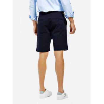 Knee Length Shorts - PURPLISH BLUE PURPLISH BLUE