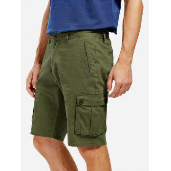 Knee Length Cargo Shorts - ARMY GREEN ARMY GREEN