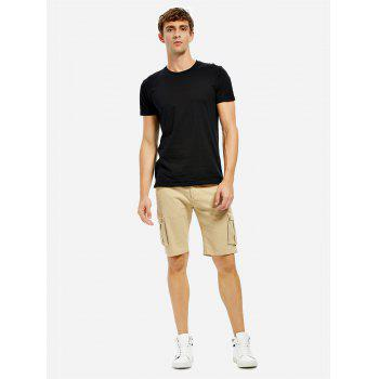 Knee Length Cargo Shorts - KHAKI 31