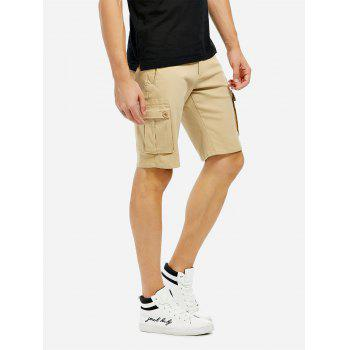 Knee Length Cargo Shorts - KHAKI KHAKI