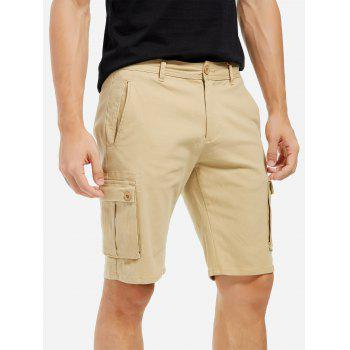 Knee Length Cargo Shorts - KHAKI 38