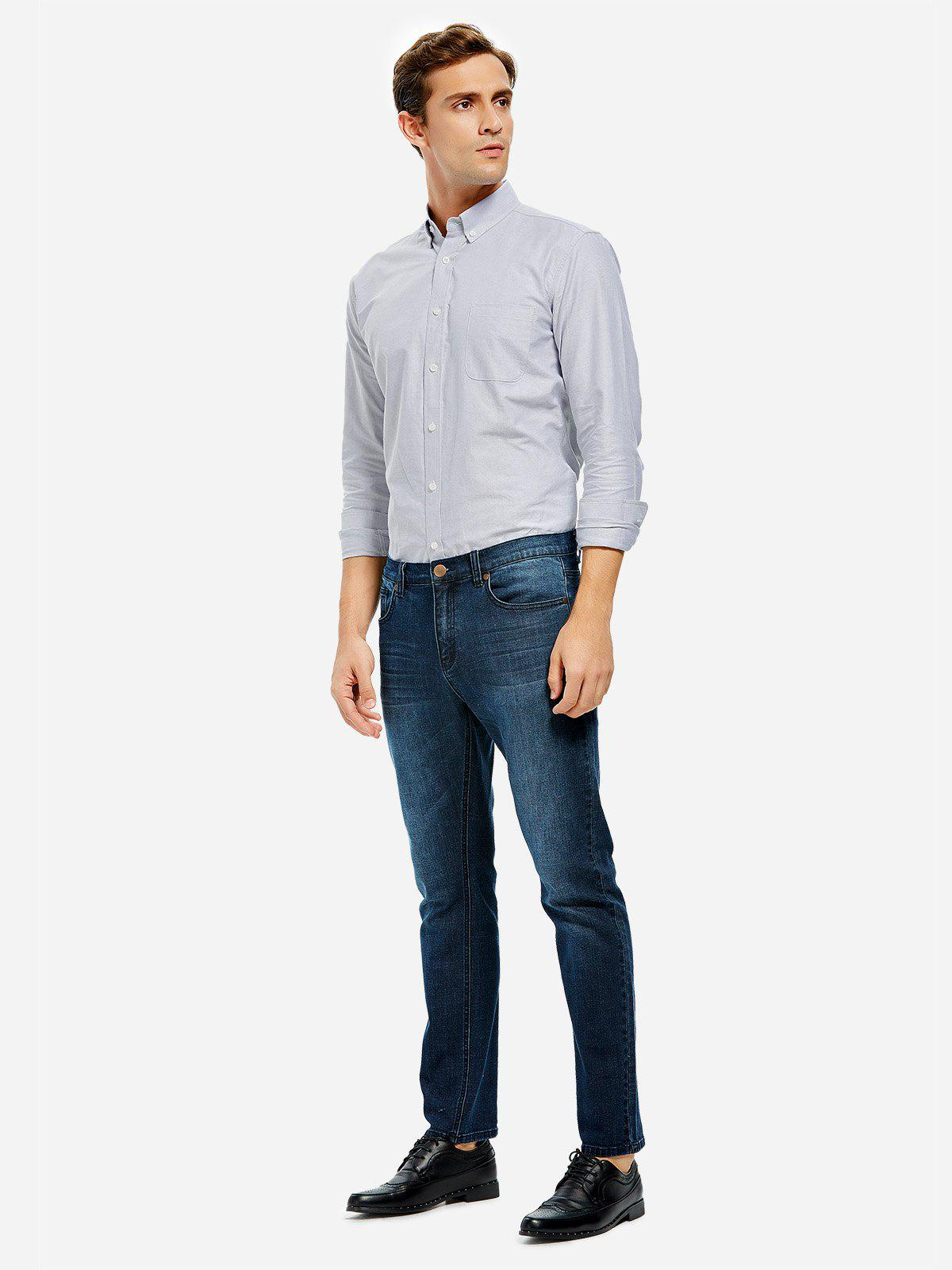 ZAN.STYLE Oxford Dress Shirt